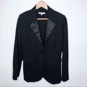 CAbi Ponte Knit Satin Lapel Tuxedo Blazer 701 Med
